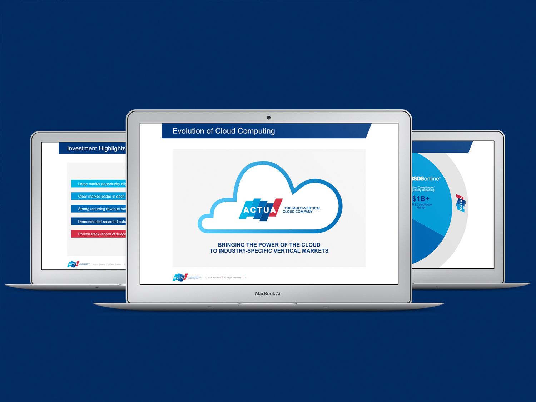 Image of Actua web page