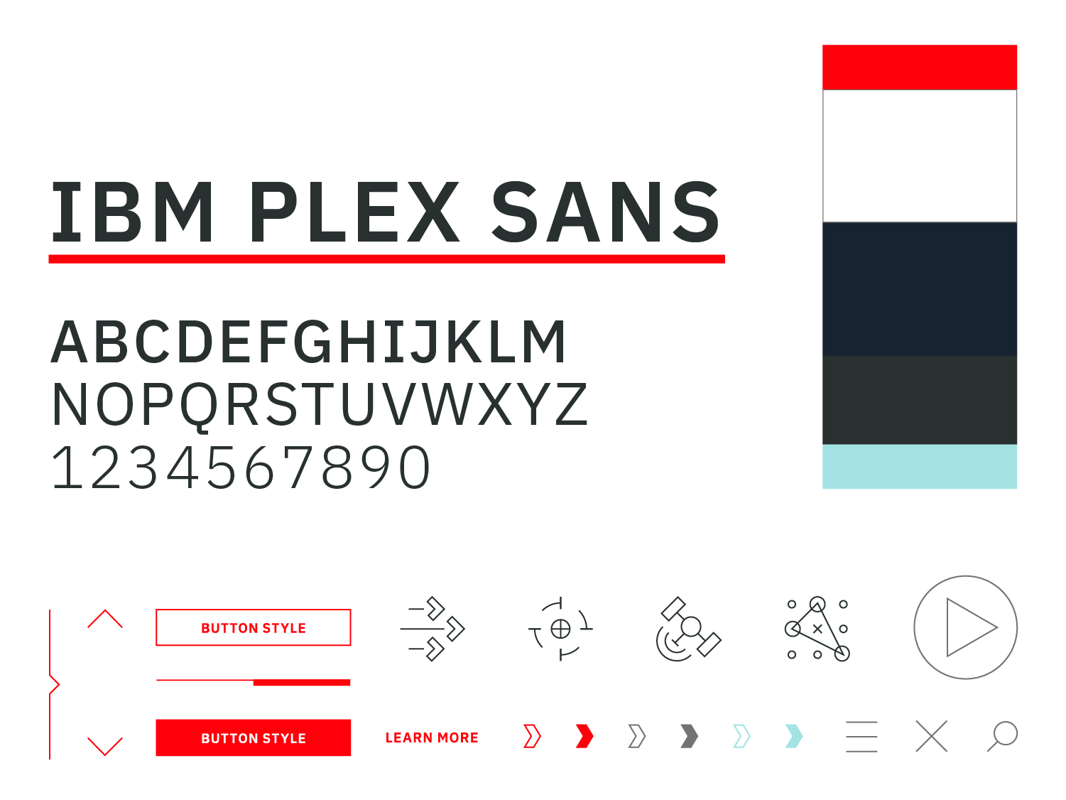 Colors, type, and graphic styles for L3Harris