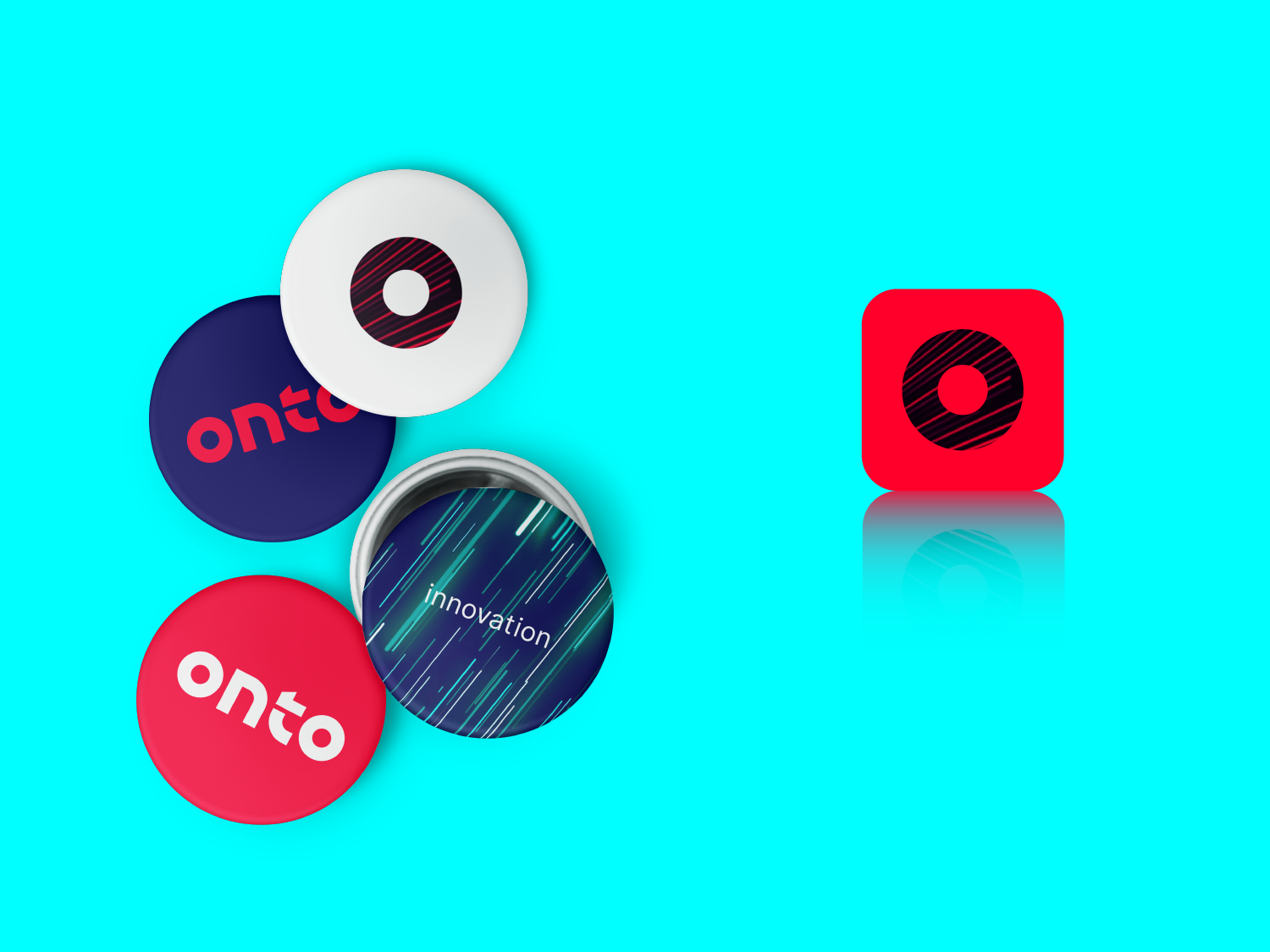 Onto Innovation buttons and app icon