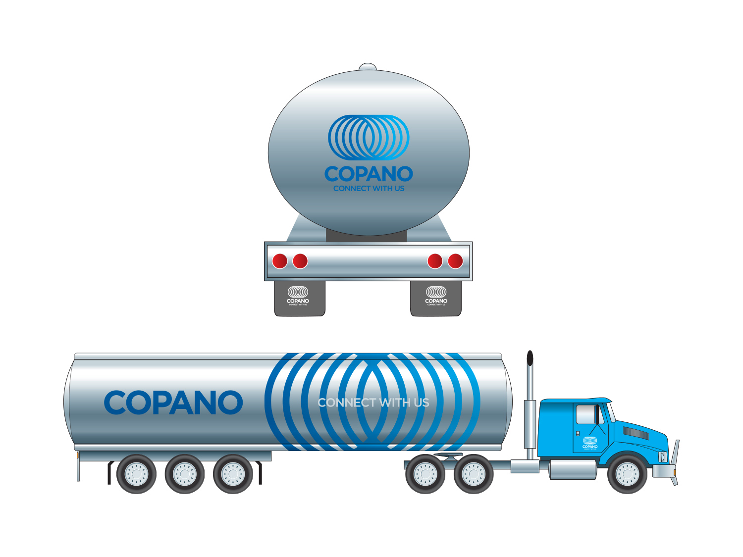 Image of Copano brand on vehicles
