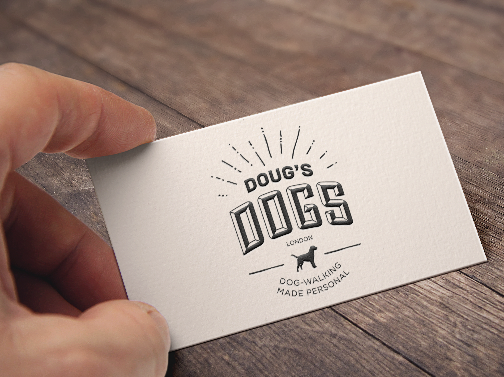 Image of Doug's Dogs business card