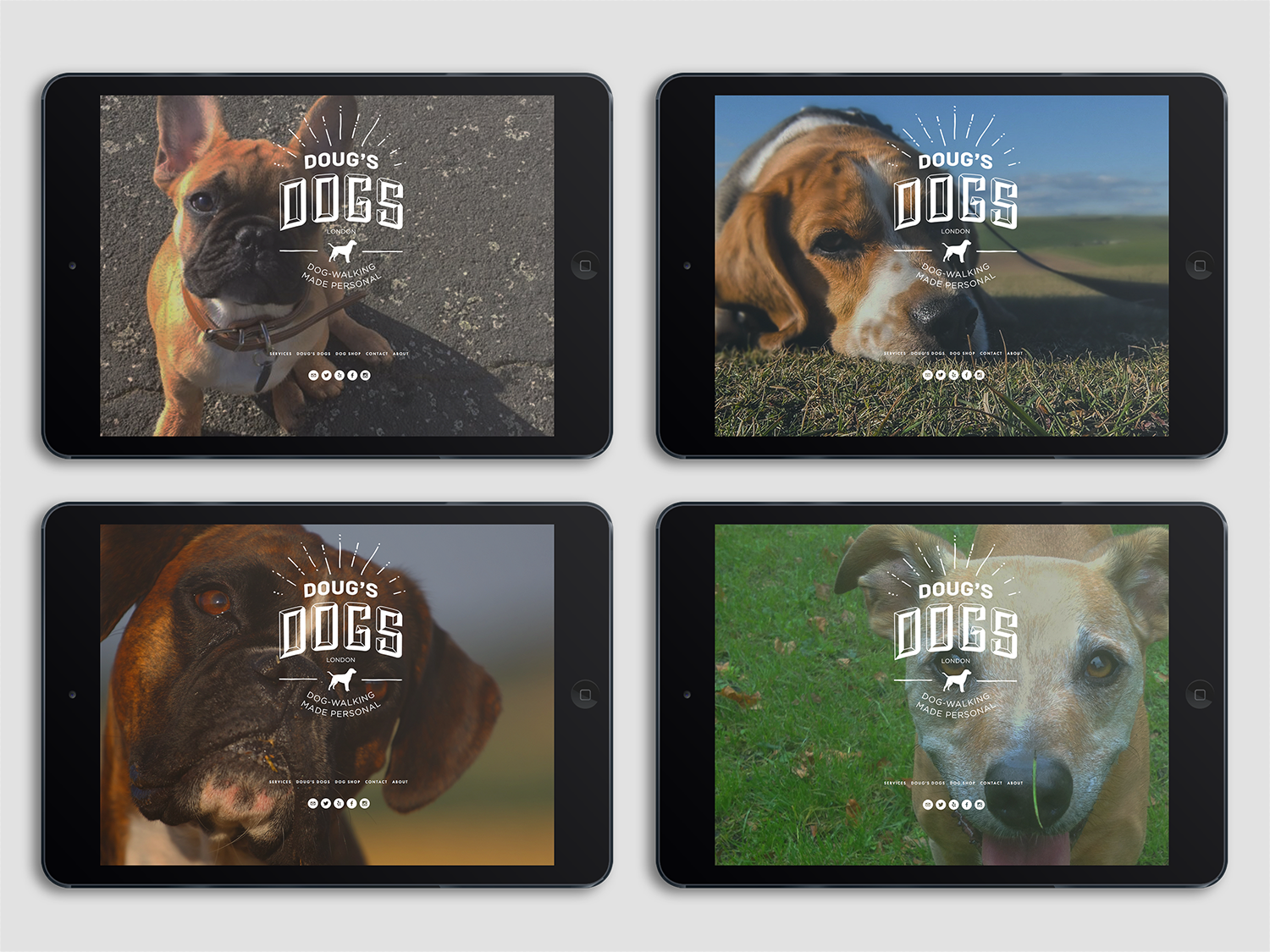 Images of Doug's Dogs webpages