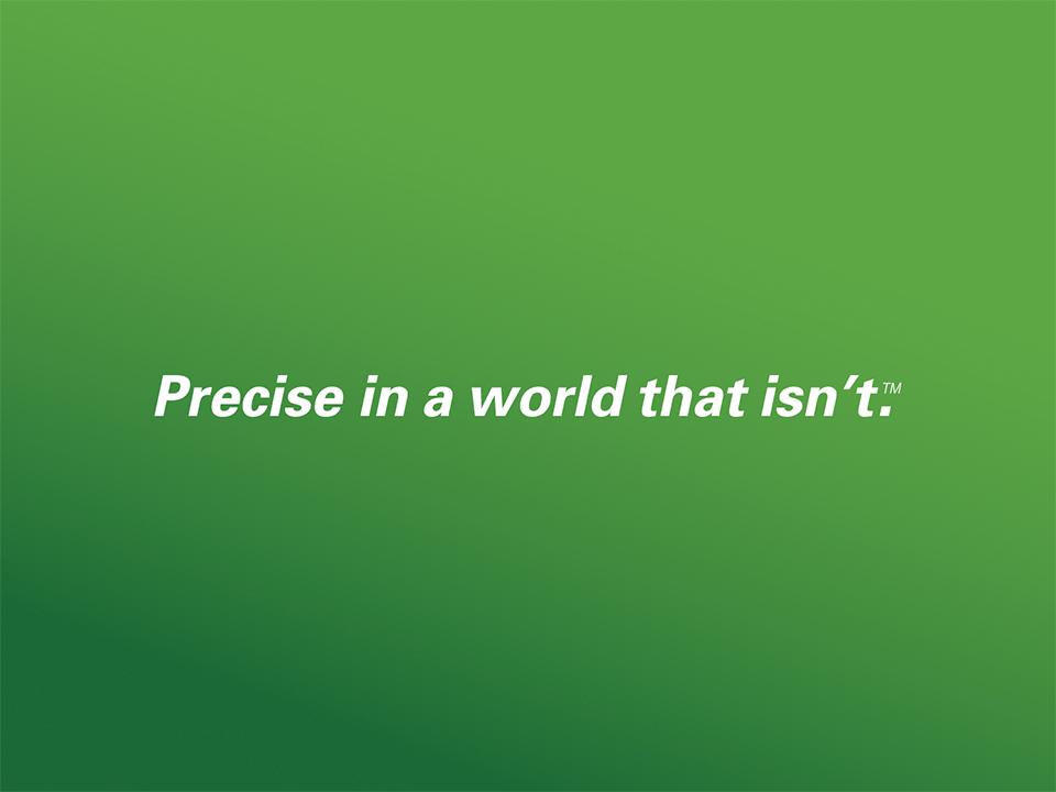 'Precise' tagline