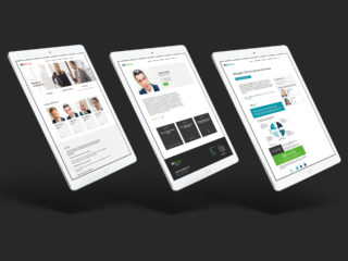 Website designs for AlixPartners on 768