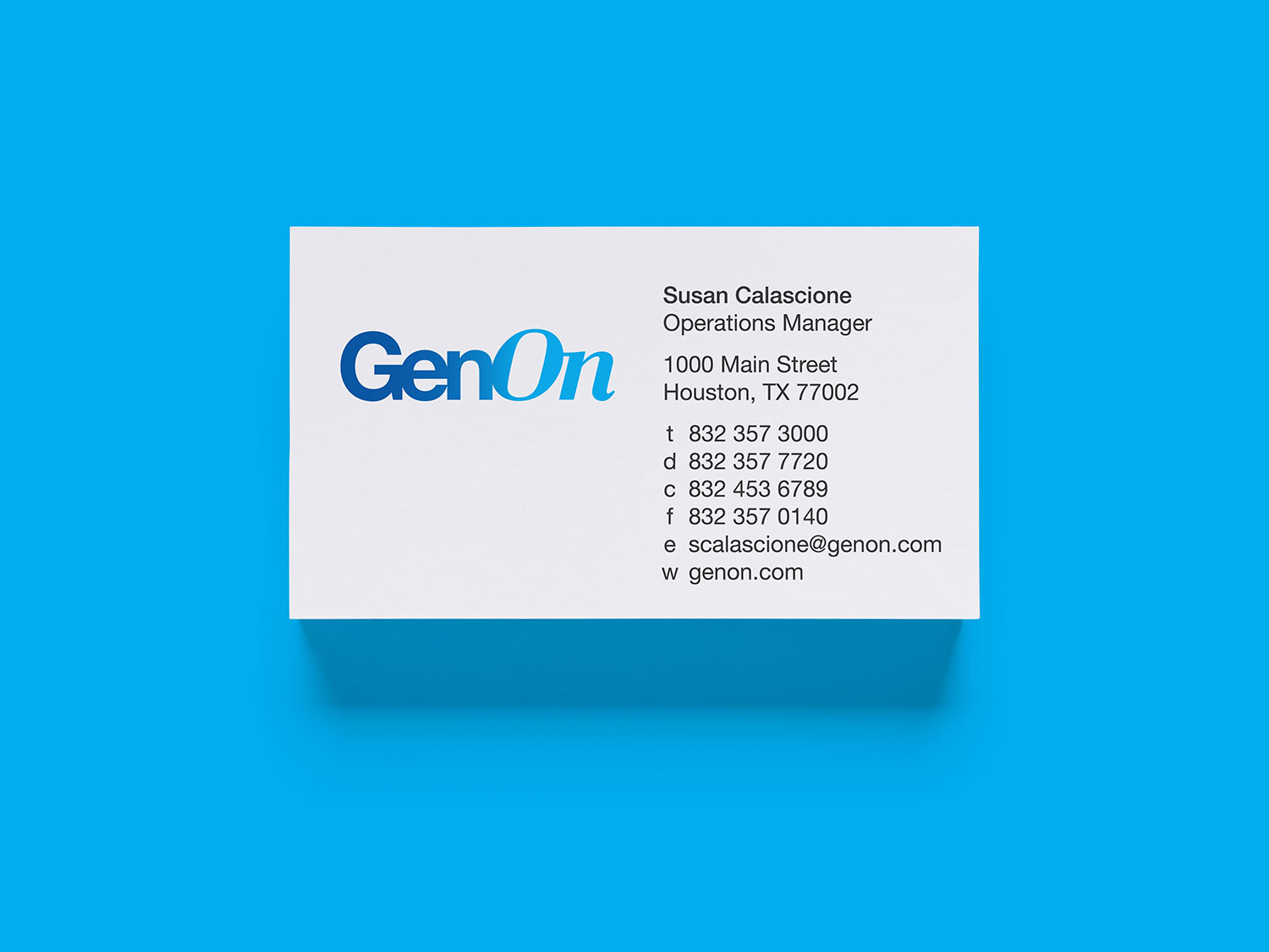 Business card designs for GenOn