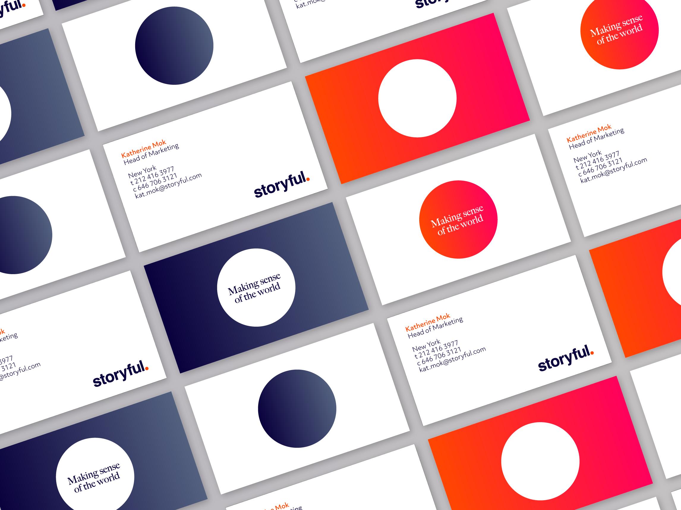 Business card mockups for Storyful