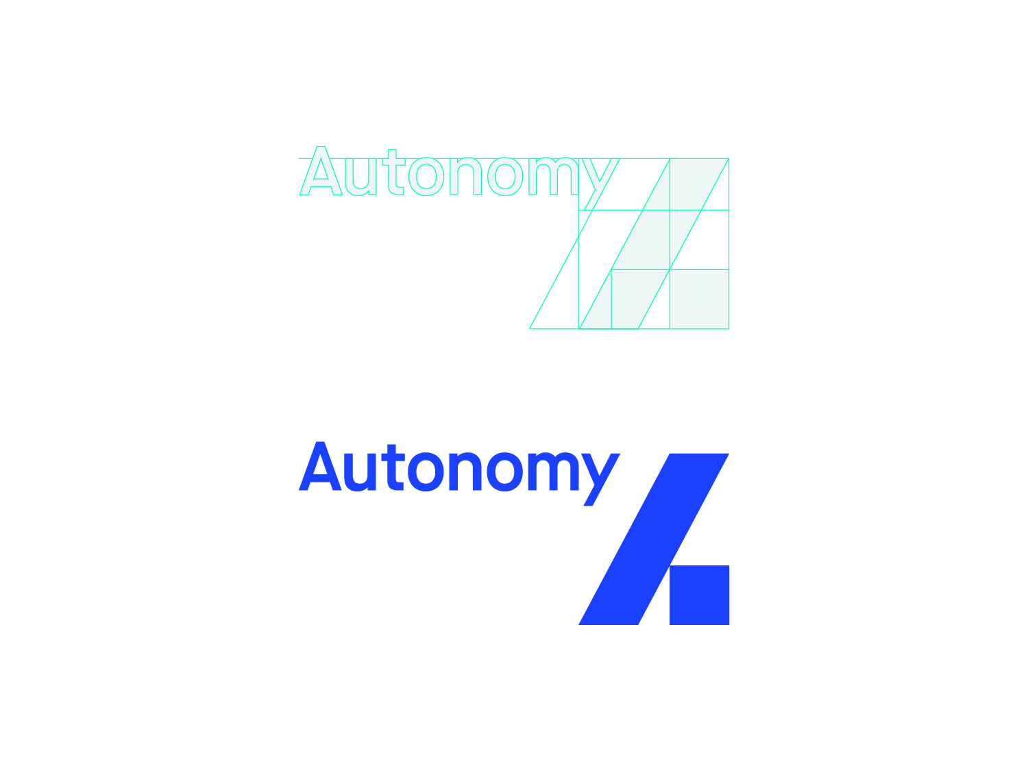 Image showing the geometry inherent in the newly rebranded Autonomy logo