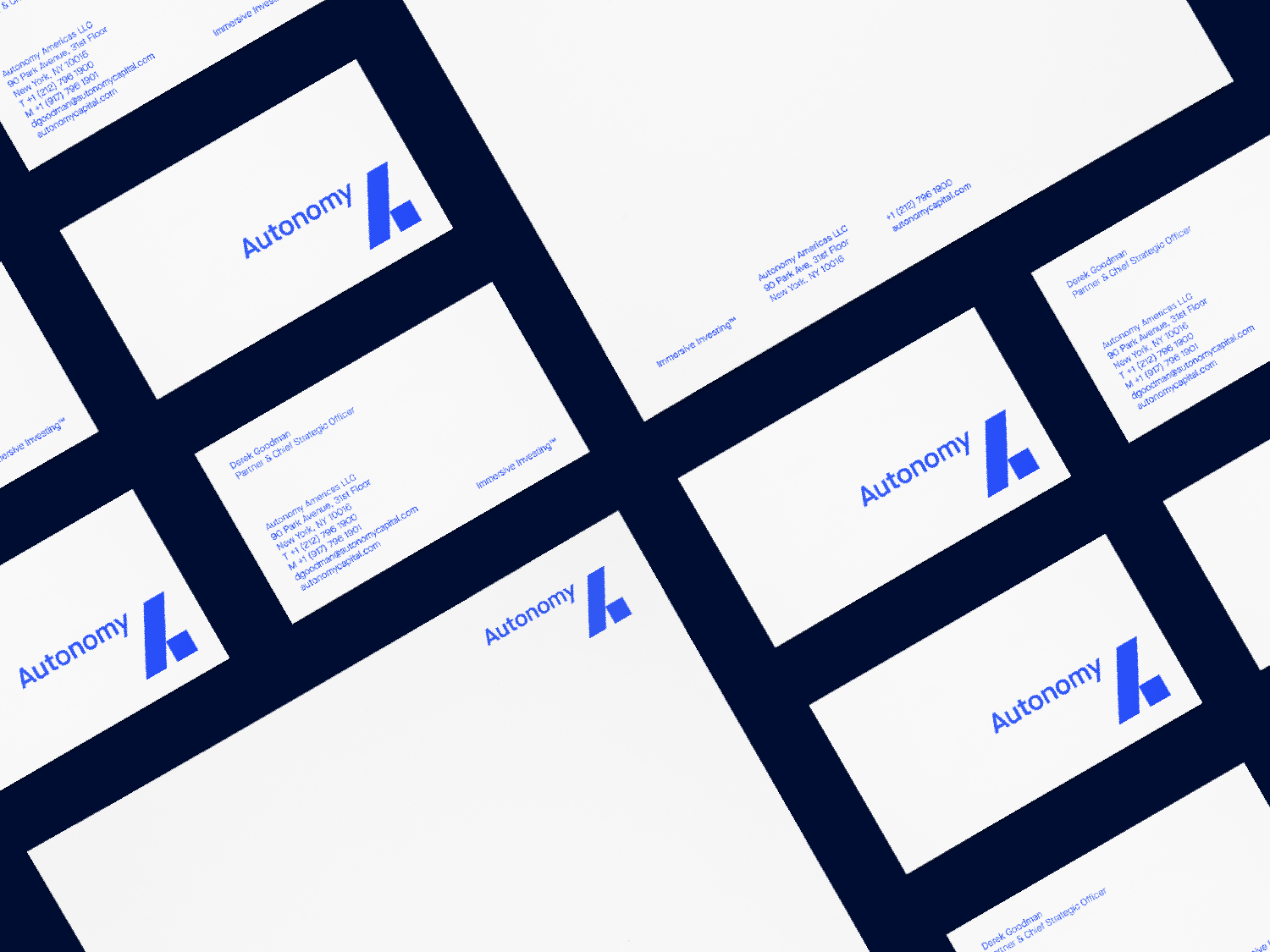 Autonomy business cards and letterhead